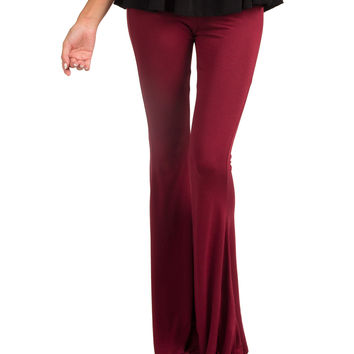 Comfy Bell Bottoms - Wine - Large