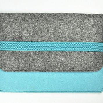 10.1 tablet case, Dell tablet sleeve, case tablet 7,  8 inch tablet case,  Felt tablet cover, tablet bag. Blue bags,Gray  bags