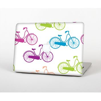The Colorful Vintage Bike on White Pattern Skin for the Apple MacBook Air 13""