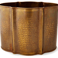 Dessau Home Antique Brass Planter - Lu160