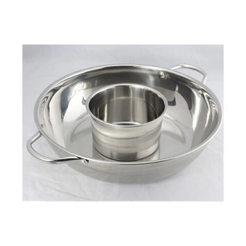 Thick stainless steel pot ears pot home fondue pots clear mother fondue pot soup pot pots dedicated cooker pot   40