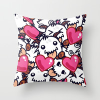 League of Legends Poro Party Throw Pillow by SylvieW