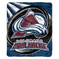 Colorado Avalanche NHL Sherpa Throw (Puck Series) (50x60)