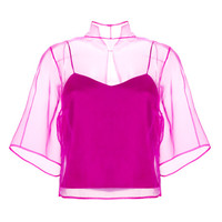 Organza Reversible Top by Barbara Casasola for Preorder on Moda Operandi