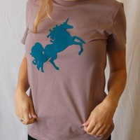 Magical Unicorn Turquoise Reclaimed Sweater PATCH by Eristotle