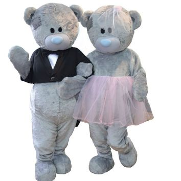 Wedding Teddy Bear Costume Mascot Teddy Bear His and Hers Costumes