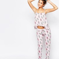 ASOS Ice Cream Frill Cami & Legging Pyjama Set