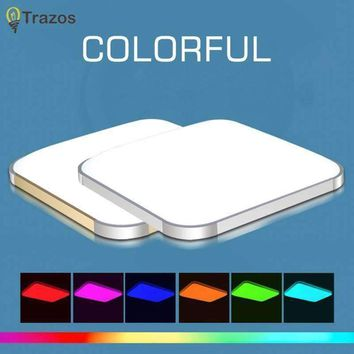 2017 Colorful Modern Led Ceiling Lights For Home Decorative RGB Light Fixture Indoor Lighting lampshade With Remote Control
