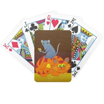 Cat & Mouse Bicycle Playing Cards