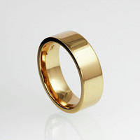 Wide yellow gold wedding band, 14k yellow gold, simple wedding band, men gold ring, modern ring, men's wide ring, rose gold, white gold