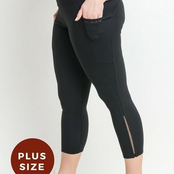 High Waist Plus Side Pocket Leggings