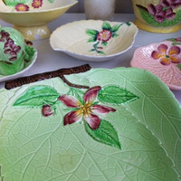 Carlton ware, Apple Blossom, spring green dish!! Beautiful, vintage, 1930's china platter!