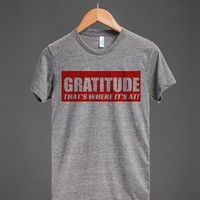 GRATITUDE - THAT'S WHERE IT'S AT!