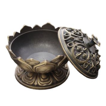 Lotus Flower Alloy Incense Holder