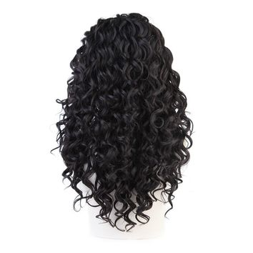 Lace Front Wig #2/6 Mixed Color Glueless Synthetic Long Curly Natural Hair Wigs For Women