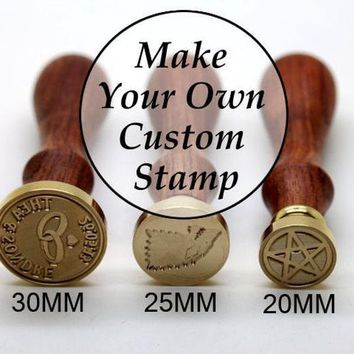 Custom Wax Seal Stamp - Personalized Sealing Wax Stamp - Wedding Invitation Wax Stamp Kit - Custom Monogram Wedding Seal - 20mm~50mm Stamp