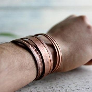 Copper Bracelet Reclaimed Metal Bracelet Bangle Jewelry Cuff Armlet Anklet Unisex Men And Women Gift Wedding Christmas Gift