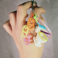 Toilet Phone Charm or Keychain - Kawaii - Decora Kei - Fairy Kei - Pop Kei