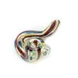 Colorful Glass Sidewinder Smoking Pipe - Handblown - 3.5 Inches