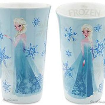 Licensed cool 2013 Disney Store Exclusive FROZEN Movie ELSA Tall Ceramic Latte Coffee Mug Cup