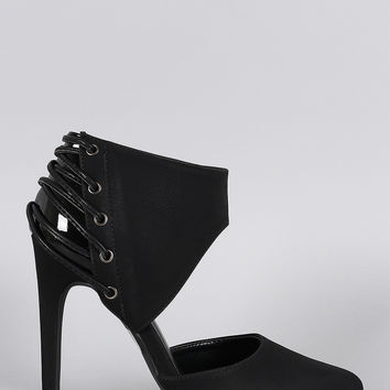 Qupid Strappy Ankle Cuff Pump