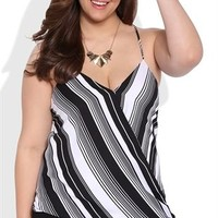 Plus Size Spaghetti Strap Tank Top with Surplice Front