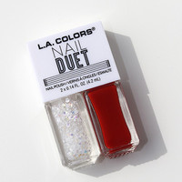 L.A. Colors- Nail Duet Polish- Fire & Ice
