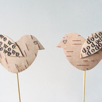 Wedding Cake Topper Birds Rustic Country by jadenrainspired