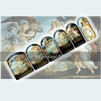Botticelli's Birth of Venus Nail Art Set of 24 Full Nail Fusion Decals by Inspired Nails