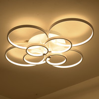 Super-Thin Circel Rings Modern Led Ceiling Chandelier Lamp Living Room Bedroom Modern Led Ceiling Chandelier Lights Fixtures