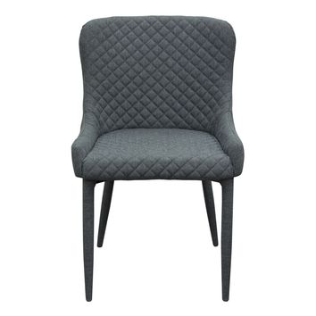 Set of (2) Savoy Accent Chair in Graphite Fabric with Metal Leg by Diamond Sofa