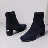 Prada autumn and winter new ladies fashion shoes wild casual booties