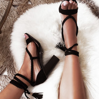 Zara Heels - Black - Shoes by Sabo Skirt