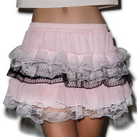 Only Punky Vexed Ruffle Skirt