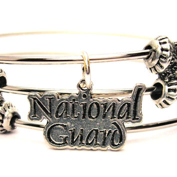 National Guard Triple Style Expandable Bangle Bracelet