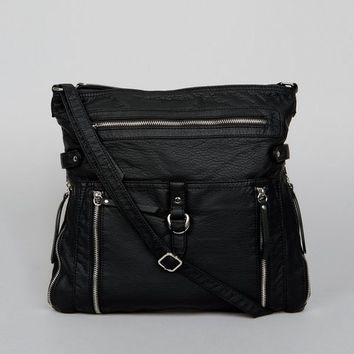 Black Zip Detail Cross Body Bag | New Look