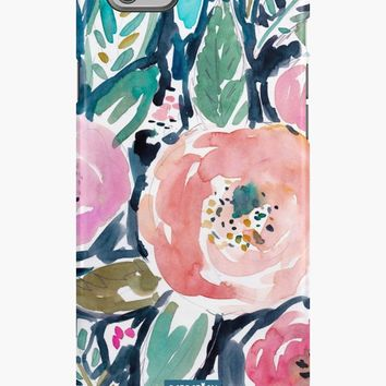 'Gardens of Capitola Watercolor Floral' iPhone Case/Skin by Barbarian