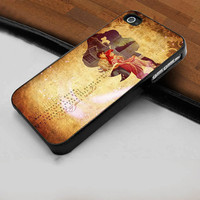 Disney Ariel and Eric Little Mermaid Quotes - Hard Case Print for iPhone 4 / 4s case - iPhone 5 case - Black or White (Option Please)