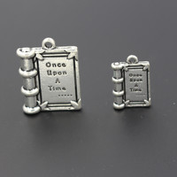 3D Alloy Book Charm once upon A Time Big Size 25*22*4.5MM Small Size 18*12*3MM