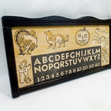 Antique Alphabet Sign - Antique Alphabet - Vintage Alphabet - Reclaimed Sign - Alphabet Sign - Vintage Nursery - Nursery Decor - Home Decor