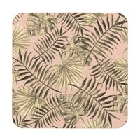 Palm leaf tropical coaster