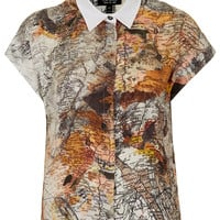 Map Print Shirt - Tops - Clothing - Topshop