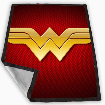 Wonder Woman Logo Blanket for Kids Blanket, Fleece Blanket Cute and Awesome Blanket for your bedding, Blanket fleece *