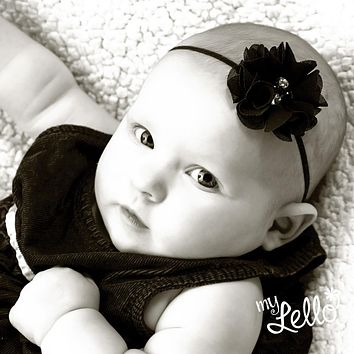Baby/Toddler Chiffon Flower Skinny Headband
