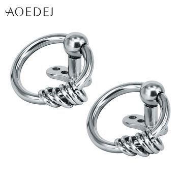 AOEDEJ 2017 New Circle Dermal Piercing Anchors Stainless Steel Double Hoop Punk Surface Retainers Hide It Jewelry Body Jewelry