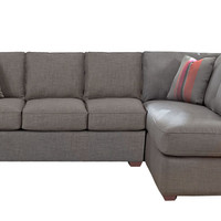 Gold Coast Chaise Sectional with 3-Seat Sofa by Savvy