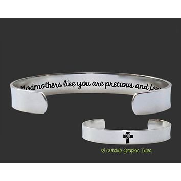 Godmothers Like You Are Precious and Few Bracelet | Godmother Gift