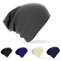New Winter Beanies Solid Color Hat Unisex Plain Warm Soft Beanie Skull Knit Cap Hats Knitted Touca Gorro Caps For Men Women