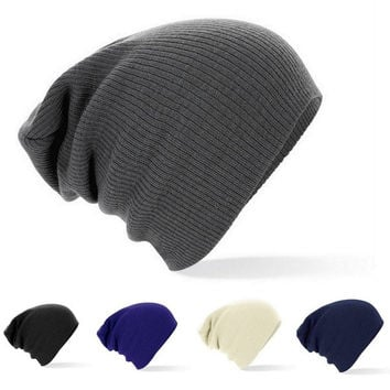 2015 New Winter Beanies Solid Color Hat Unisex Plain Warm Soft Beanie Skull Knit Cap Hats Knitted Touca Gorro Caps For Men Women = 1958066756