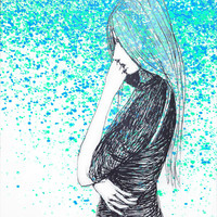 lost in thoughts Art Print by Marianna Tankelevich